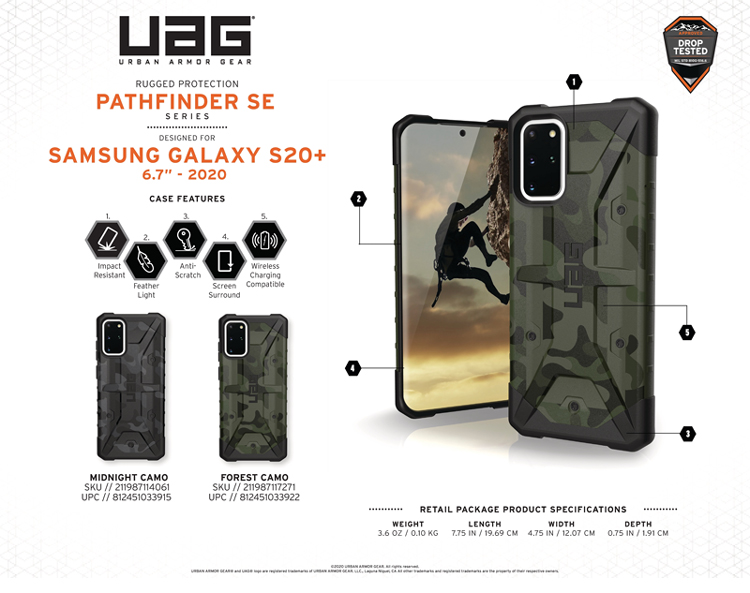 Op lung Samsung Galaxy S20 Plus UAG Pathfinder SE Camo 18 bengovn