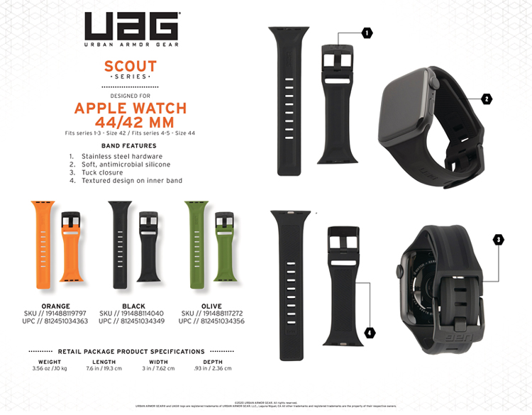 Day deo Apple Watch 42mm 44mm UAG Scout Silicone 20 bengovn