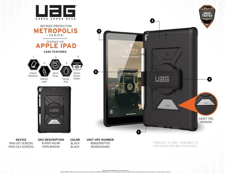 Op lung iPad 10 2 7th Gen UAG Metropolis With Handstrap 11 bengovn