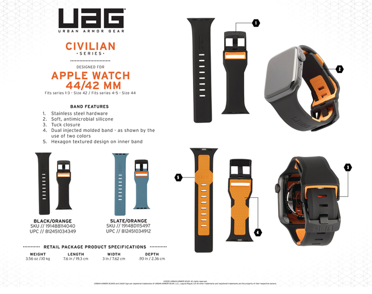 Day deo Apple Watch 42mm 44mm UAG Civilian Silicone 13 bengovn