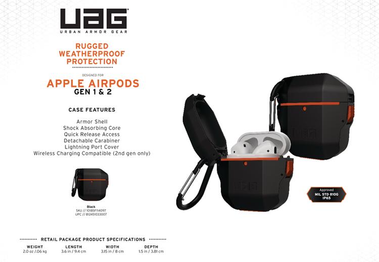 Vo op Airpods UAG Hard Case Black 13 Bengovn