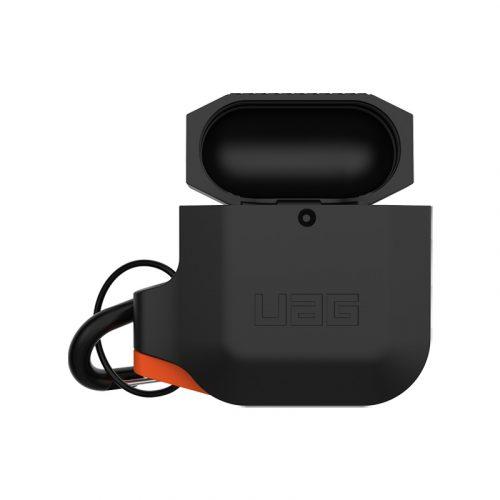 vo op airpods uag silicone rugged weatherproof black orange2 bengovn