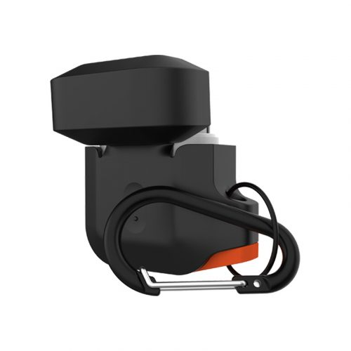 vo op airpods uag silicone rugged weatherproof black orange3 bengovn