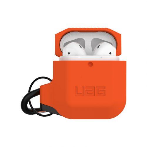 vo op airpods uag silicone rugged weatherproof orange bengovn