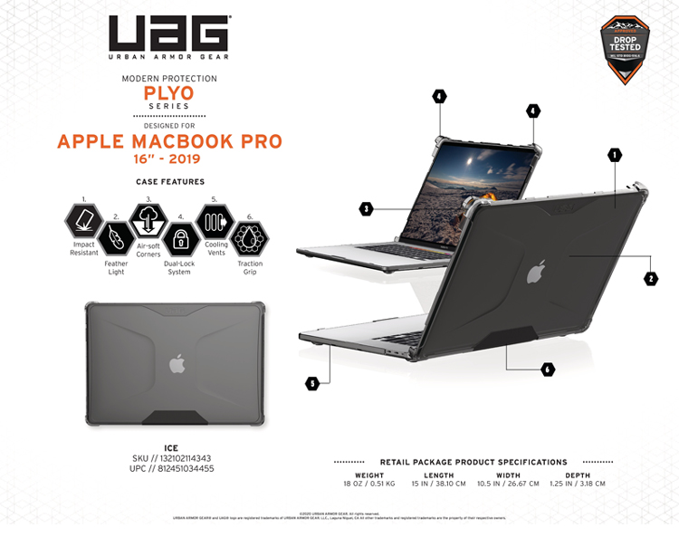 Op bao ve Macbook Pro 16 2019 UAG Plyo TIKI 16 bengovn