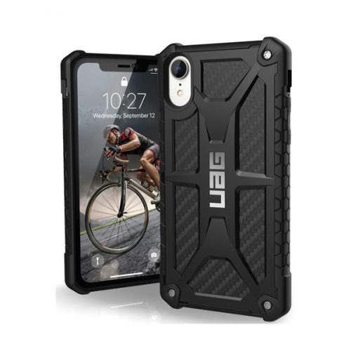 Op lung iPhone XR UAG Monarch Series Carbon Fiber 01 bengovn