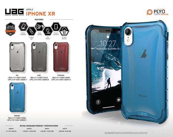 op lung iPhone XR UAG Plyo Series 01 bengovn