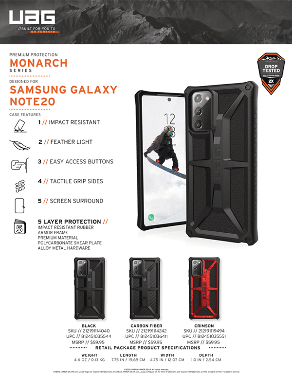 Op lung Samsung Galaxy Note 20 UAG Monarch Series 24 bengovn