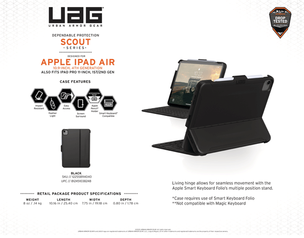 Op lung iPad Air 4 2020 UAG Scout Series 17 bengovn