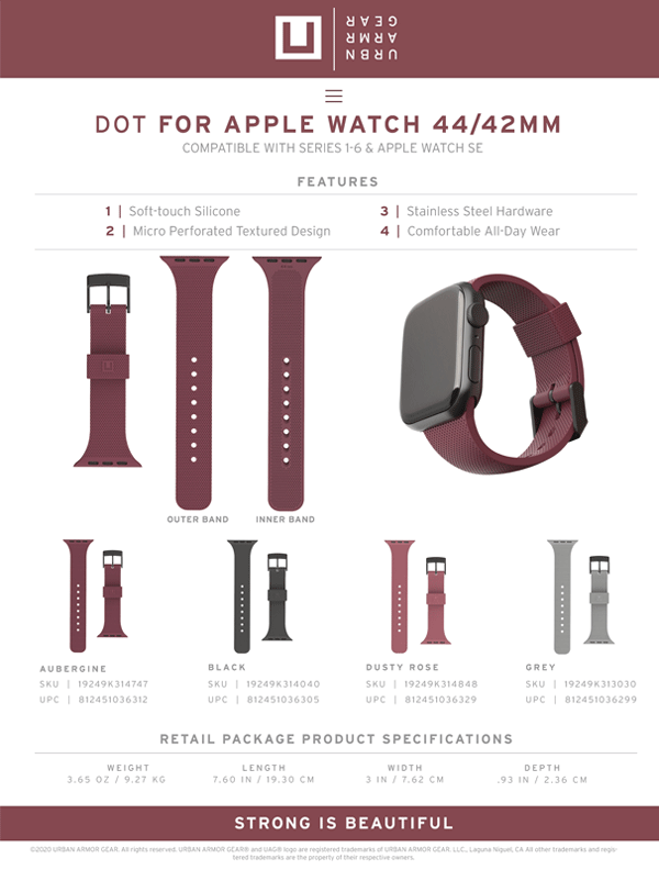 Day deo Apple Watch 42mm 44mm UAG U DOT Silicone 32 Bengovn