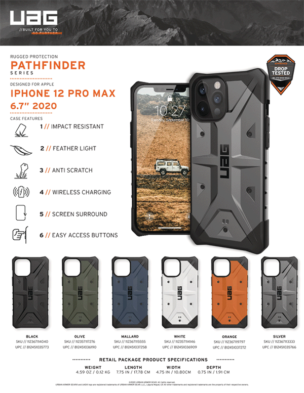 Op lung iPhone 12 Pro Max UAG Pathfinder Series 26 Bengovn