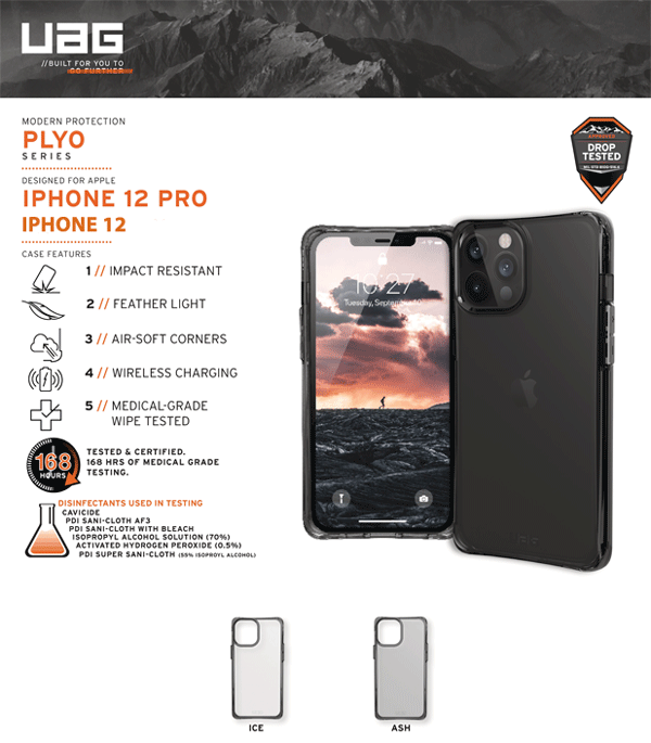 Op lung iPhone 12 12 Pro UAG Plyo Series 01 Bengovn