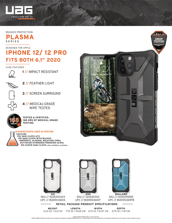 Op lung iPhone 12 12 Pro Max UAG Plasma Series 01 Bengovn