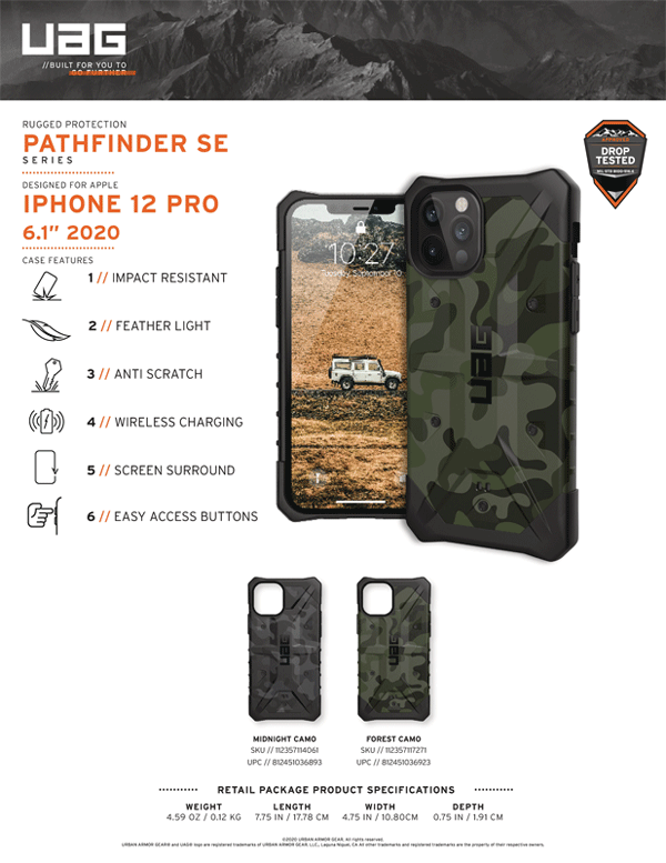 Op lung iPhone 12 iphone 12 Pro UAG Pathfinder SE Series 17 Bengovn