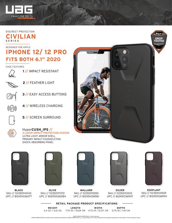 Op lung iPhone 12 12 Pro UAG Civilian Series 30 Bengovn