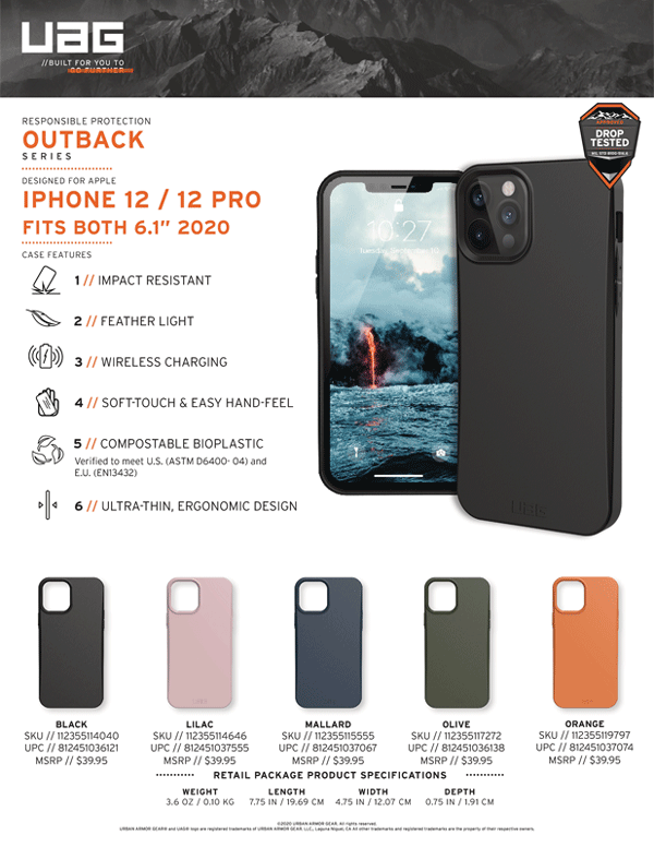 Op lung iPhone 12 12 Pro UAG Biodegradable Outback Series 31 Bengovn