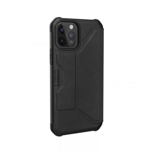 Bao da iPhone 12 12 Pro UAG Metropolis Series LTHR Black 09 bengovn