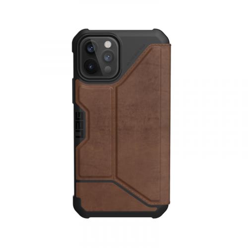 Bao da iPhone 12 12 Pro UAG Metropolis Series LTHR Brown 12 bengovn