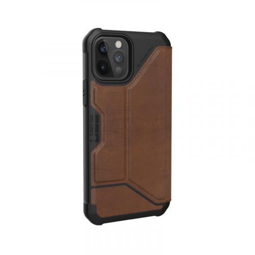 Bao da iPhone 12 12 Pro UAG Metropolis Series LTHR Brown 13 bengovn