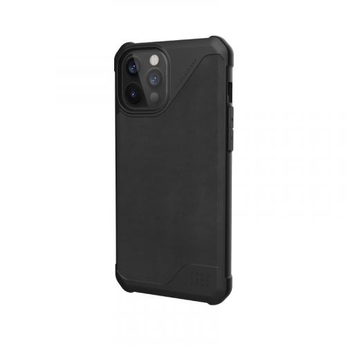 Op lung iPhone 12 12 Pro UAG Metropolis LT Series LTHR Black 06 bengovn