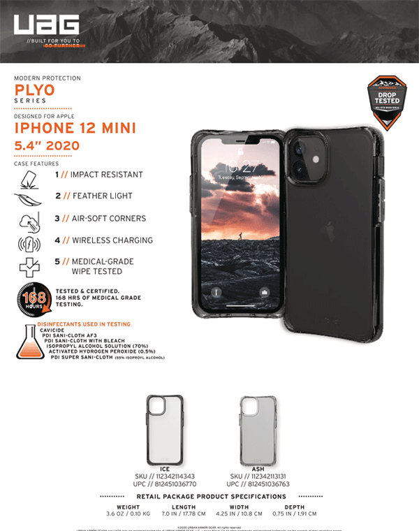 Op lung iPhone 12 Mini UAG Plyo Series 18 Bengovn