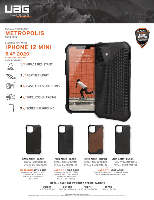 Op lung iPhone 12 Mini UAG Metropolis LT Series 25 bengovn
