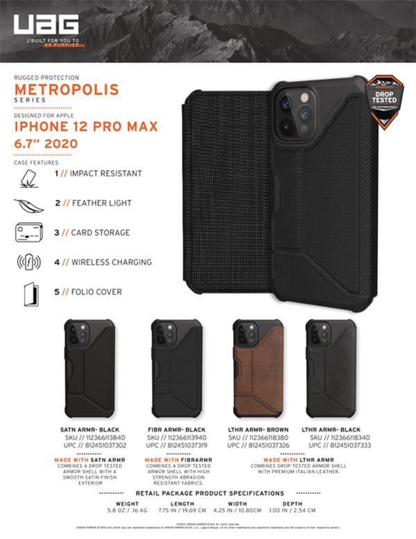 Bao da iPhone 12 Pro Max UAG Metropolis Series 18 bengovn