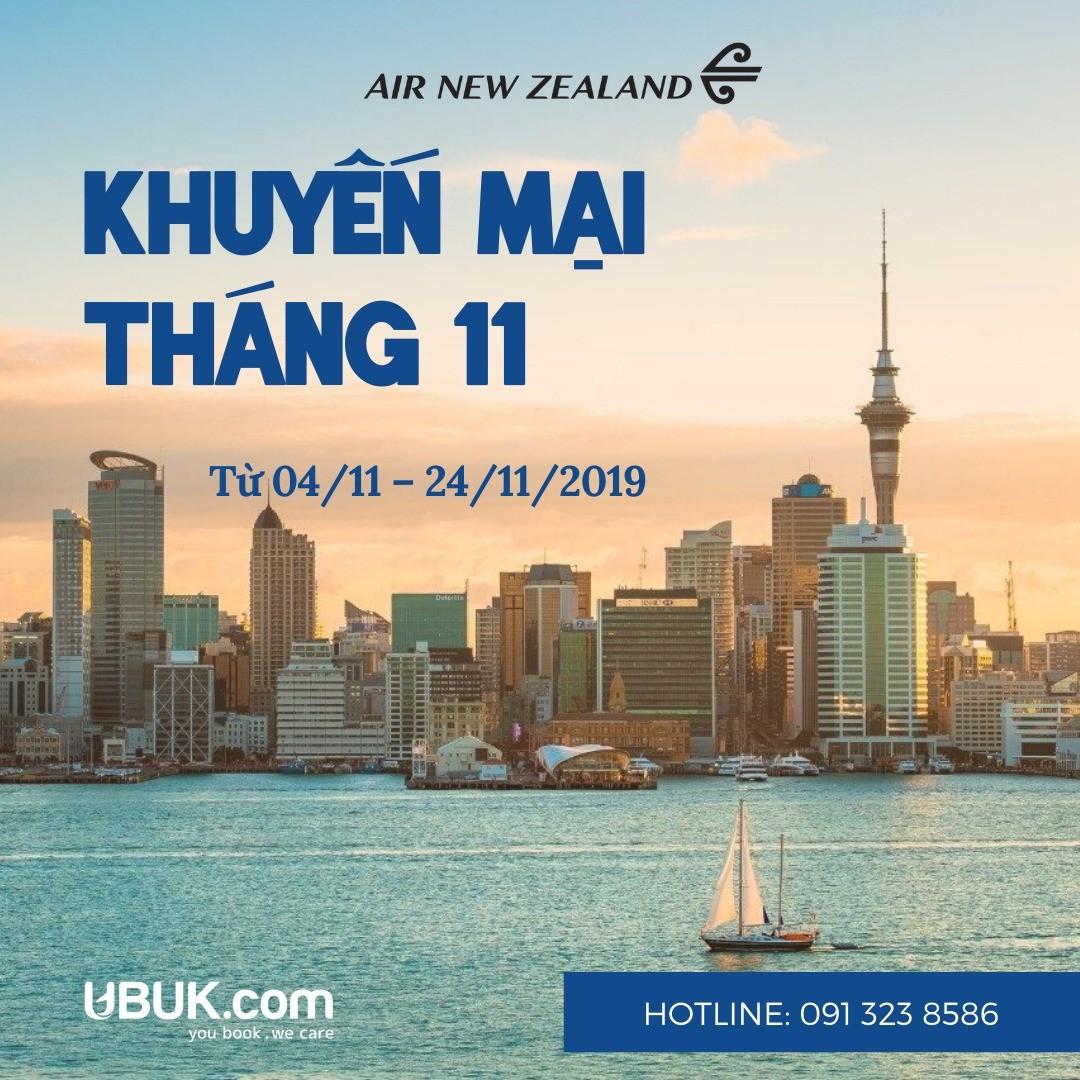 KHUYẾN MẠI THÁNG 11 TỪ AIR NEW ZEALAND