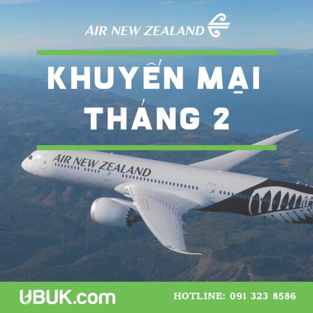 AIR NEWZEALAND TRIỂN KHAI GIÁ ƯU ĐÃI THÁNG 2