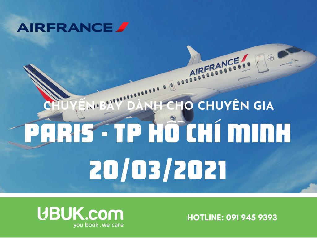 AIR FRANCE MỞ BÁN CHUYẾN BAY CHO CHUYÊN GIA HÀNH TRÌNH PARIS - TP HỒ CHÍ MINH 20/03/2021