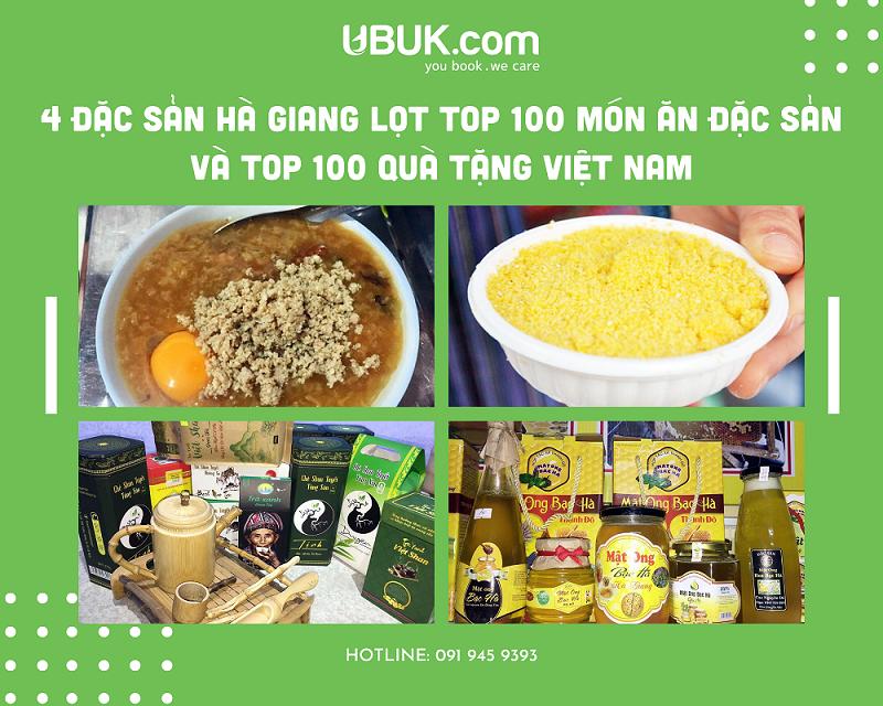 4 ĐẶC SẢN HÀ GIANG LỌT TOP 100 MÓN ĂN ĐẶC SẢN VÀ TOP 100 QUÀ TẶNG VIỆT NAM