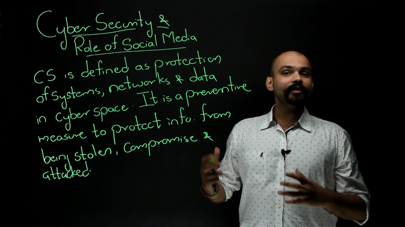 Internal Security- Cyber security and role of social media