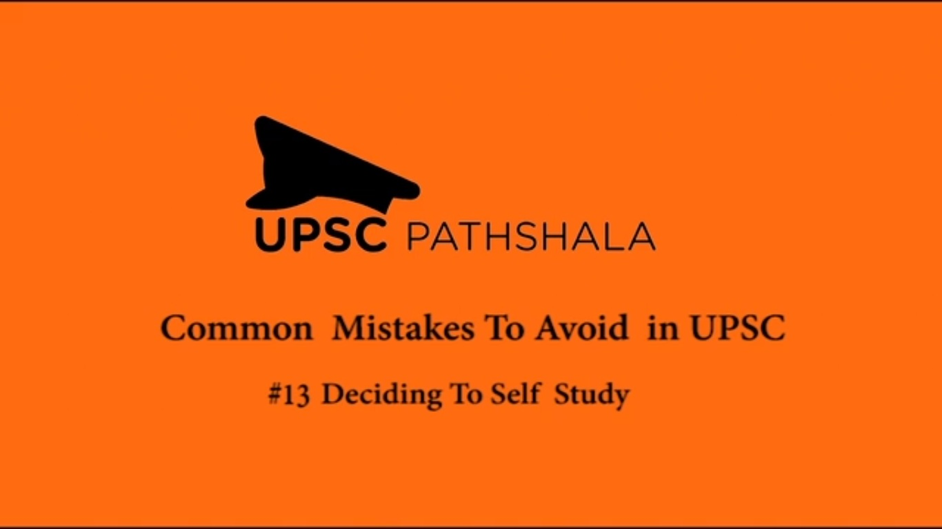 Common Preparation Mistakes: #13 Deciding to Self Study