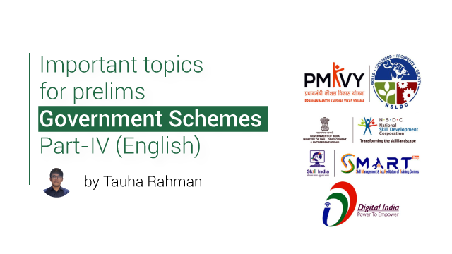 Important topics for prelims (Government Schemes Part 4) English