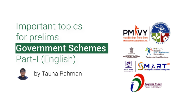 Important topics for prelims - Government Schemes Part 1 (English)