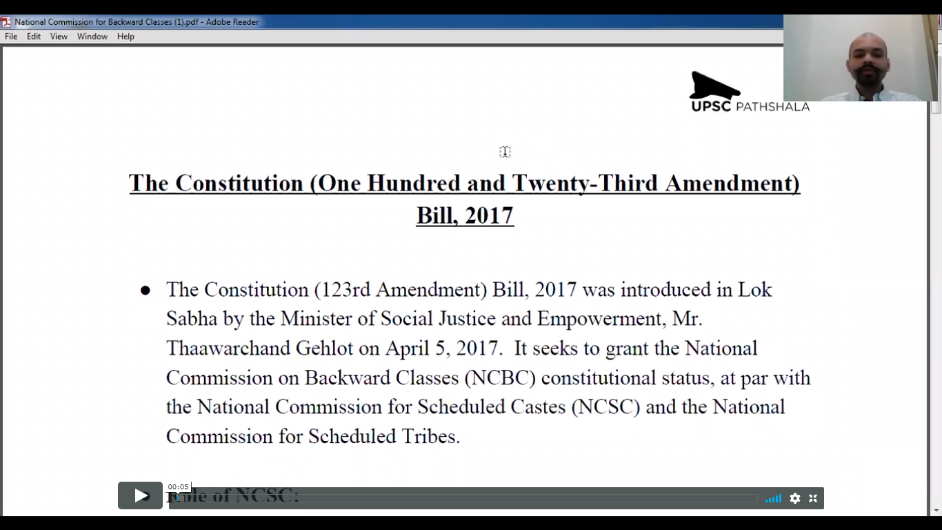 National Commission for Backward Classes (NCBC)