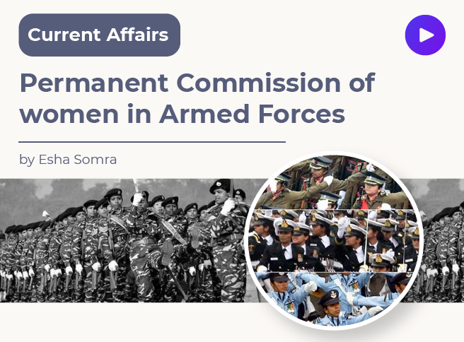 Permanent Commission of women in Armed Forces