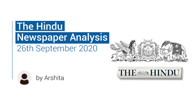 The Hindu 26th September 2020