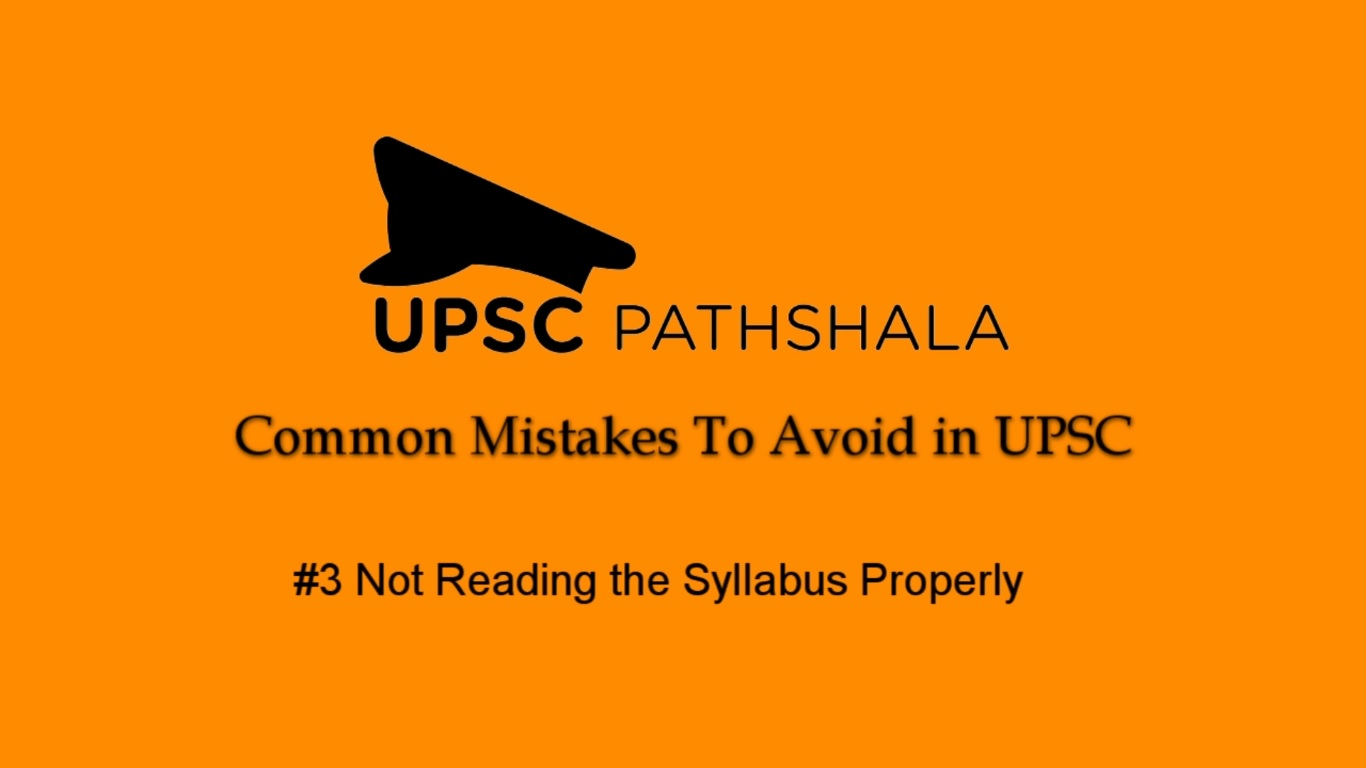 Common Preparation Mistakes: #3 Not Reading the Syllabus Properly