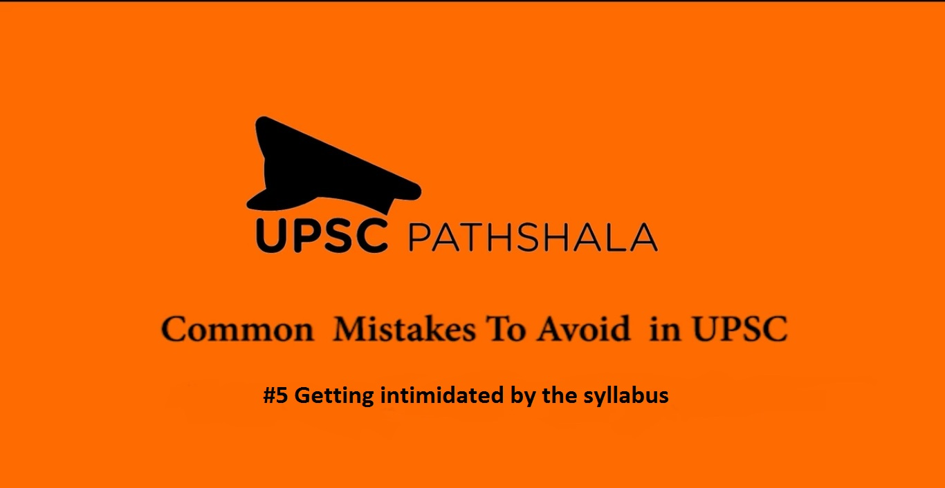 Common Preparation Mistakes: #5 Getting Intimided by the syllabus