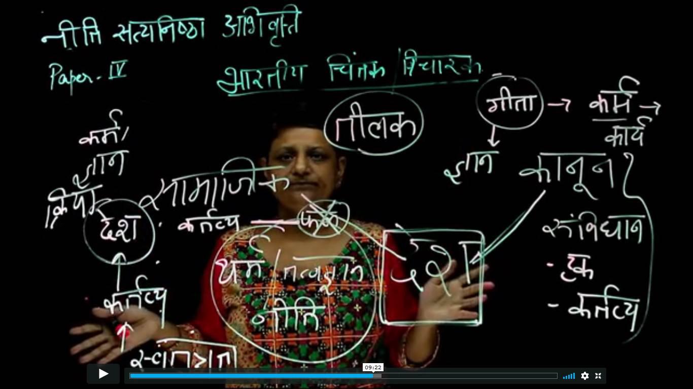 UPSC  Ethics Hindi - Indian Thinker : Bal Gangadhar Tilak