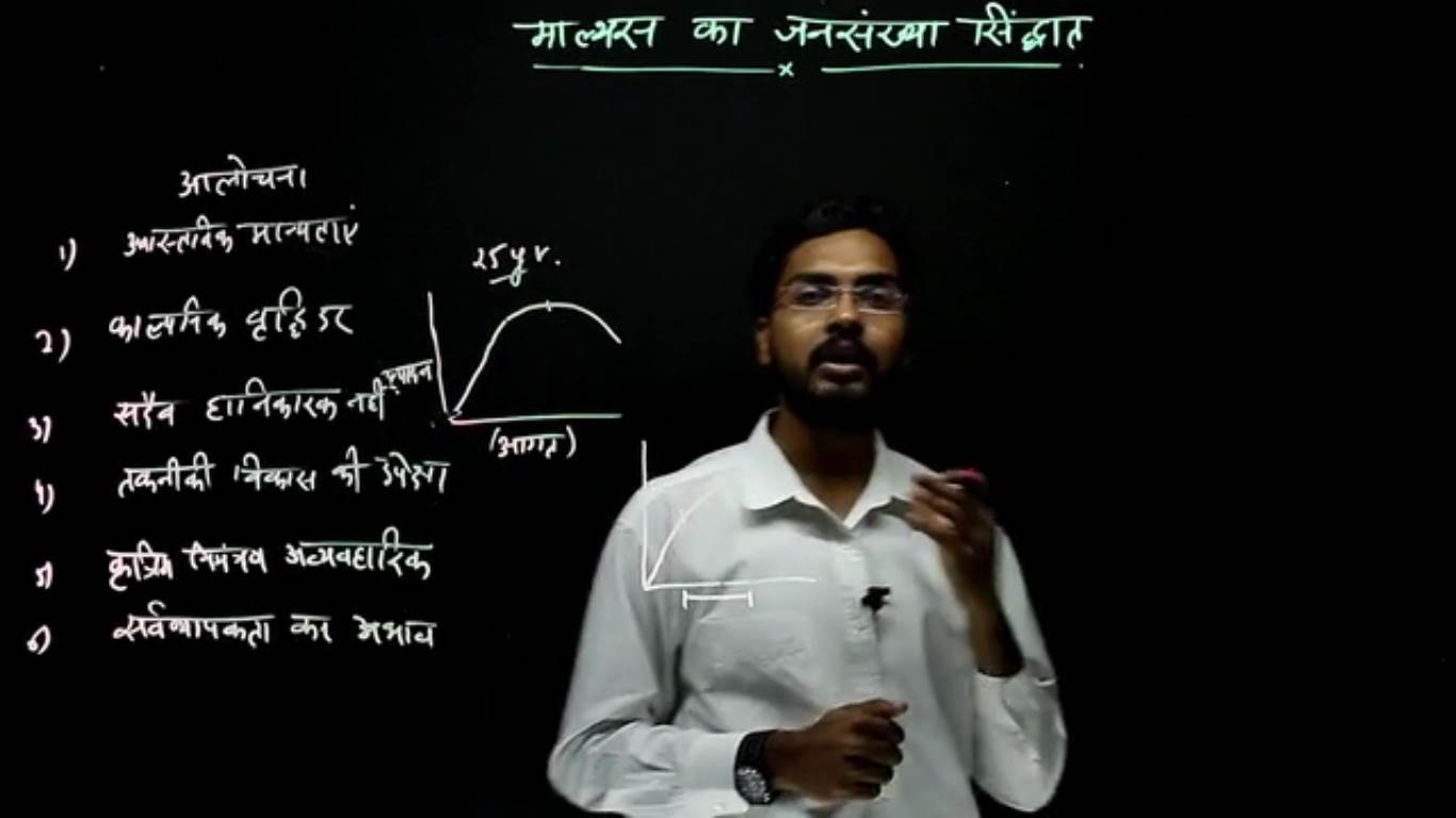 Geography Hindi - Population theory of Malthus (Part 2)