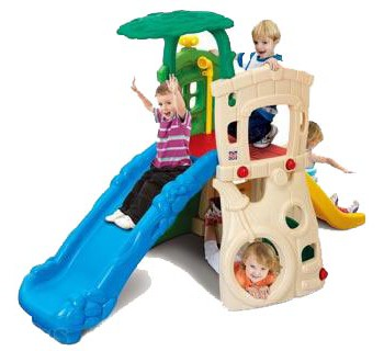 Double Slides Climb and Hide Jungle | Smiley Baby Toys