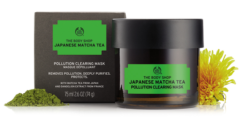 hot humid skincare essentials The Body Shop Japanese Matcha Tea Pollution Clearing Mask 1