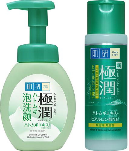 hot humid skincare essentials hada labo blemish oil control hydrating