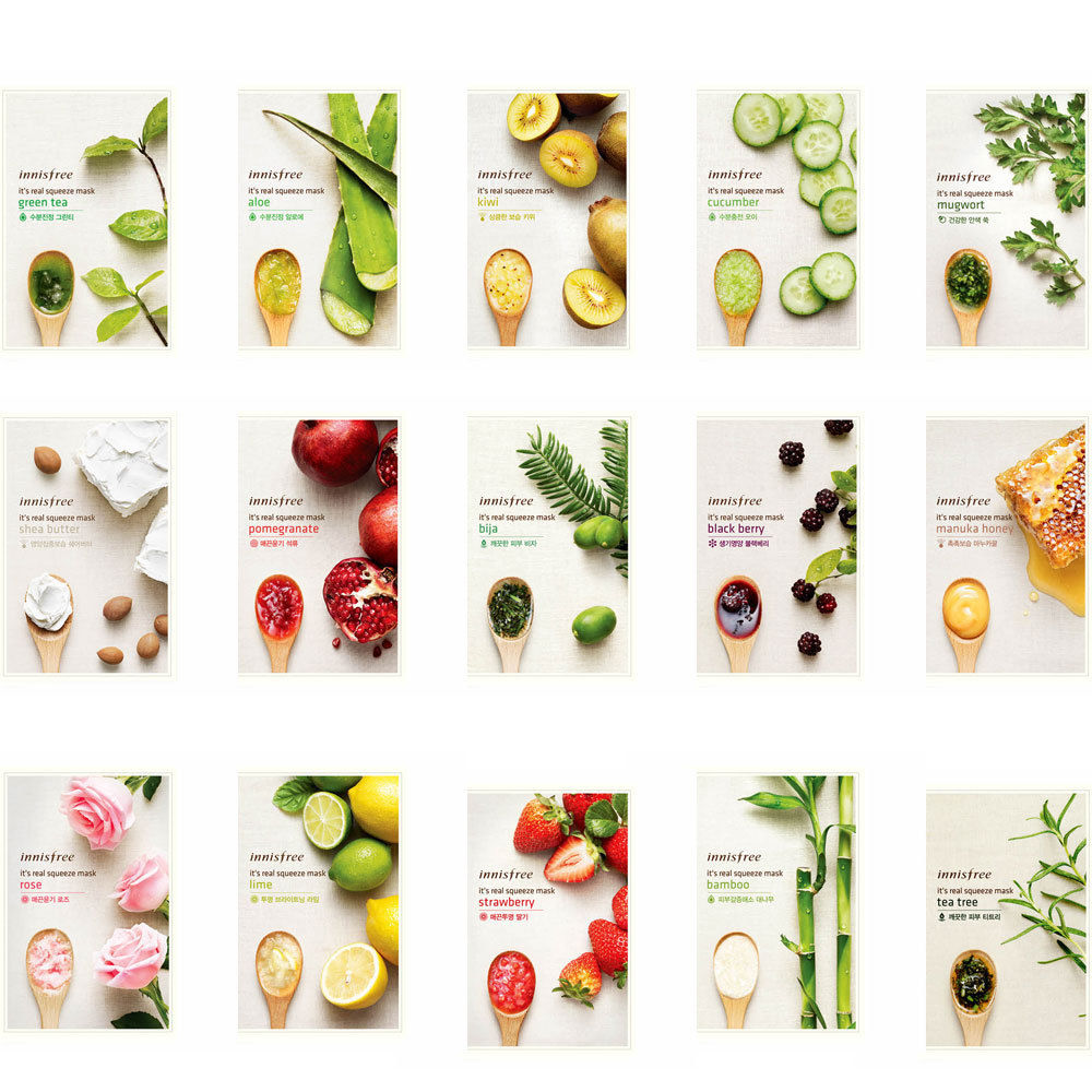 under sgd 5 beauty Innisfree It's Real Squeeze Mask