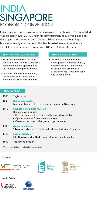 India Singapore Economic Convention