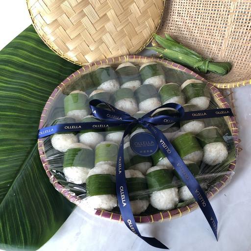 25 pcs Lemper Ayam Bamboo Platter