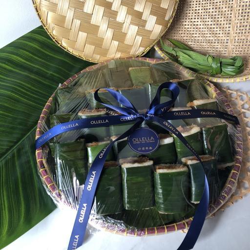 25 pcs Lemper Ebi Bamboo Platter