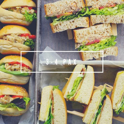 3- 4 Pax Serving Sandwich Platter